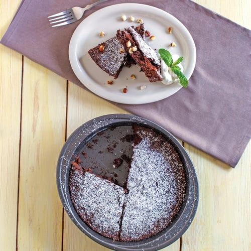 Nutty Brownie Cake