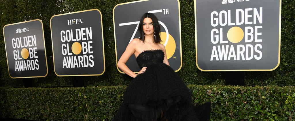 Your Jaw Will Hit the Ground When You See Kendall Jenner's Golden Globes Gown