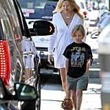 Kate Hudson and Ryder Robinson walked back to their car together.