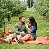 It Doesn't Get Any More Fall Than This Sweet Apple Orchard Engagement Shoot