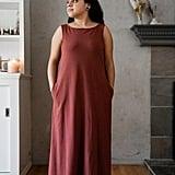 Mien Studios Fortuna Column Dress in Red Currant