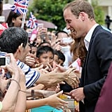 Prince William and Kate Middleton at Singapore Gardens