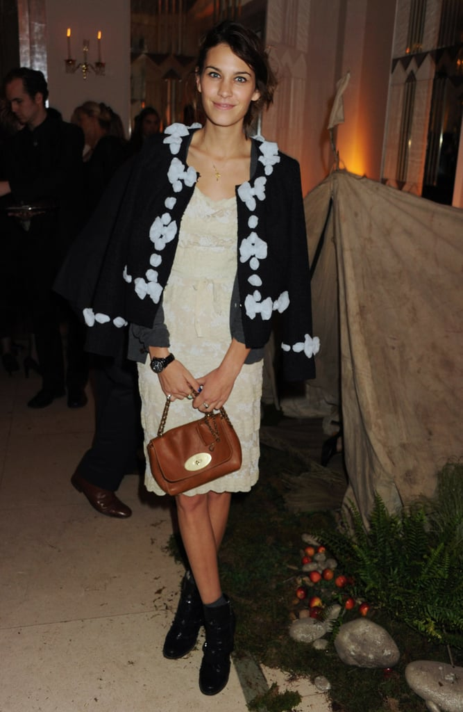 Ladylike with a Mulberry bag for a film screening this year.