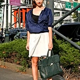 Fashionologie's Christina Perez opted for understated and totally chic.