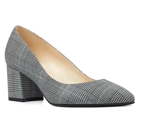 Plaid Block Heels