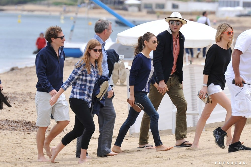 Mila Kunis, Ashton Kutcher, and Princess Beatrice of York all spent the day together in Saint-Tropez in June 2013.