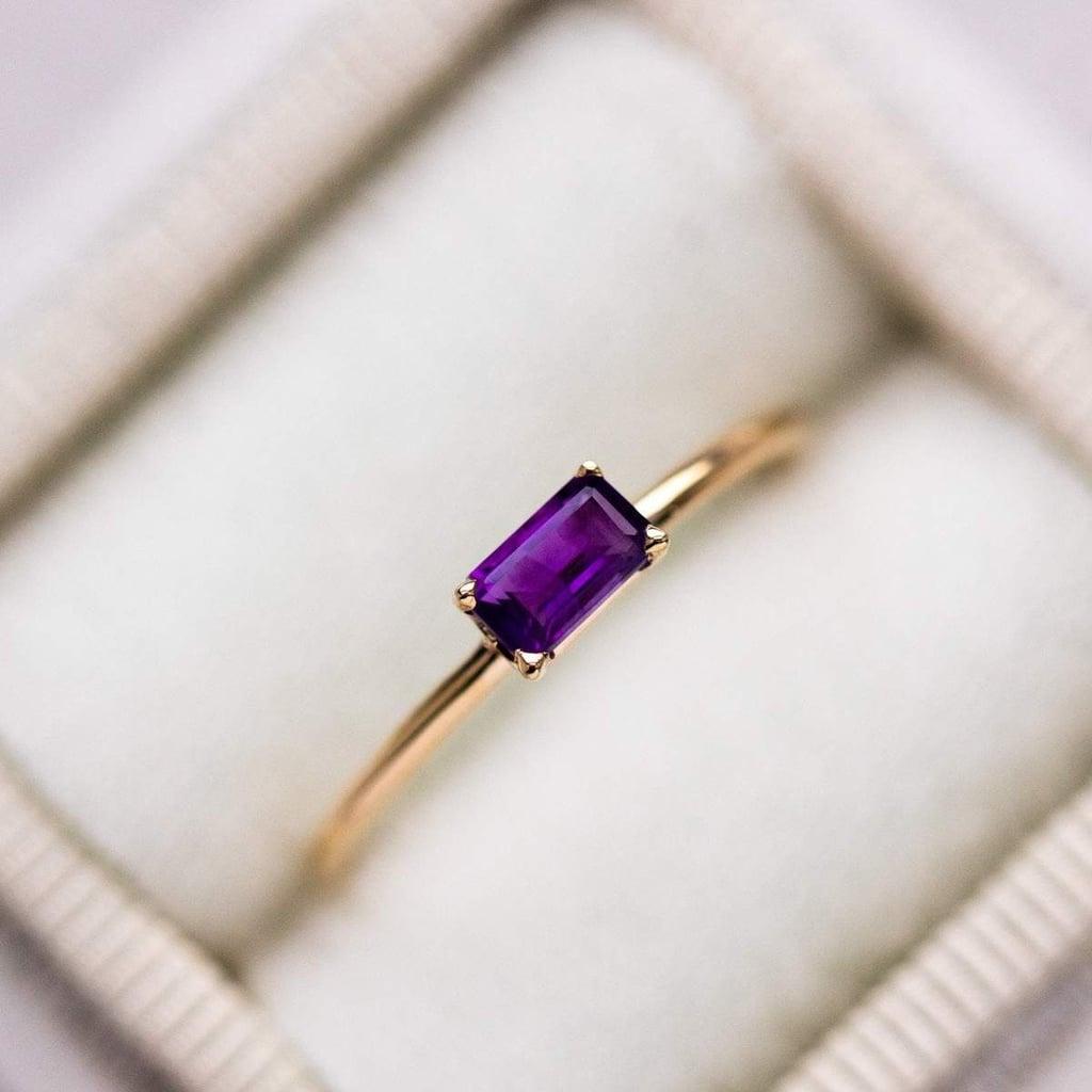 Amethyst Octagon Ring
