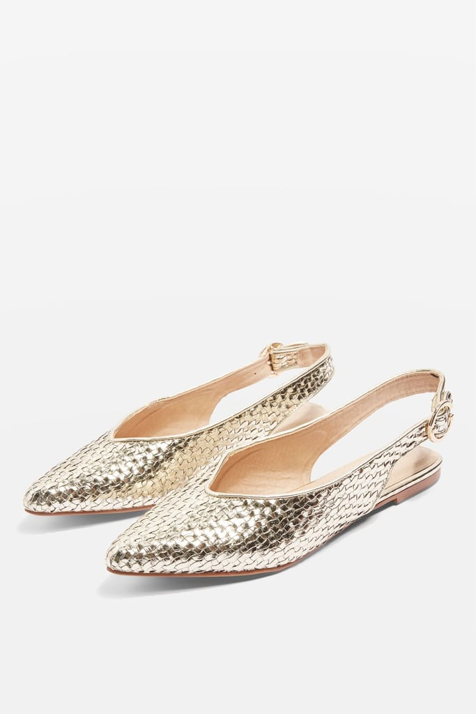 Topshop Women's Apple Slingback Flat
