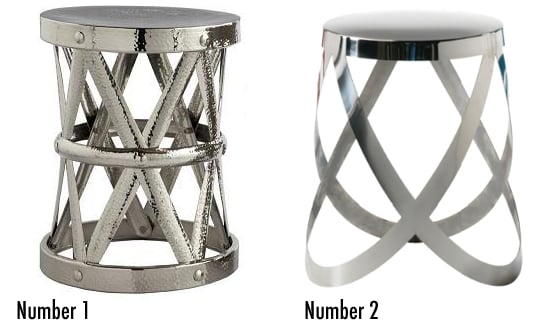 Less or More: Criss-Cross Silver Stools