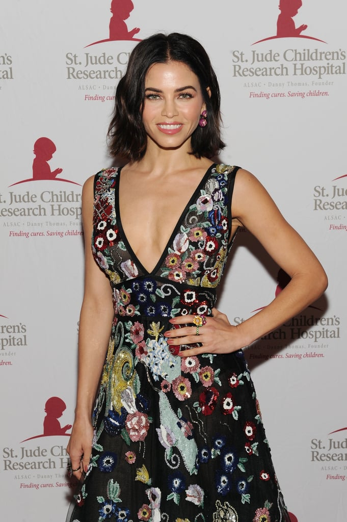 "Jenna Dewan was glowing on the red carpet at the St. Jude Hope & Heritage Gala in NYC on Friday night. The actress and World of Dance judge posed for photos in a gorgeous floral gown before heading inside for the event, where she was honored with the research hospital's 2018 Humanitarian of the Year award. The gala marks Jenna's first public appearance since announcing her split from husband Channing Tatum after nine years of marriage. Earlier this week, she thanked her fans for their love and support with a sweet social media snap. On April 2, the couple, who tied the knot in July 2009, revealed their separation via Instagram; it has since been reported that the pair are ""best friends and still support each other"" and ""live in the same house"" with their 4-year-old daughter, Everly. Keep reading to see Jenna's big night out.      Related:                                                                                                           Before Marrying Channing Tatum, Jenna Dewan Dated These 2 Celebrity Heartthrobs"