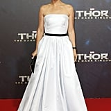 Natalie Portman stunned in a white dress at the German premiere of her film.