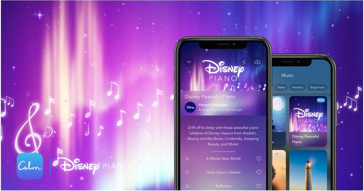 Calm Added 5 Soothing Disney Songs to Its Library, So You Can Magically Drift Off to Sleep