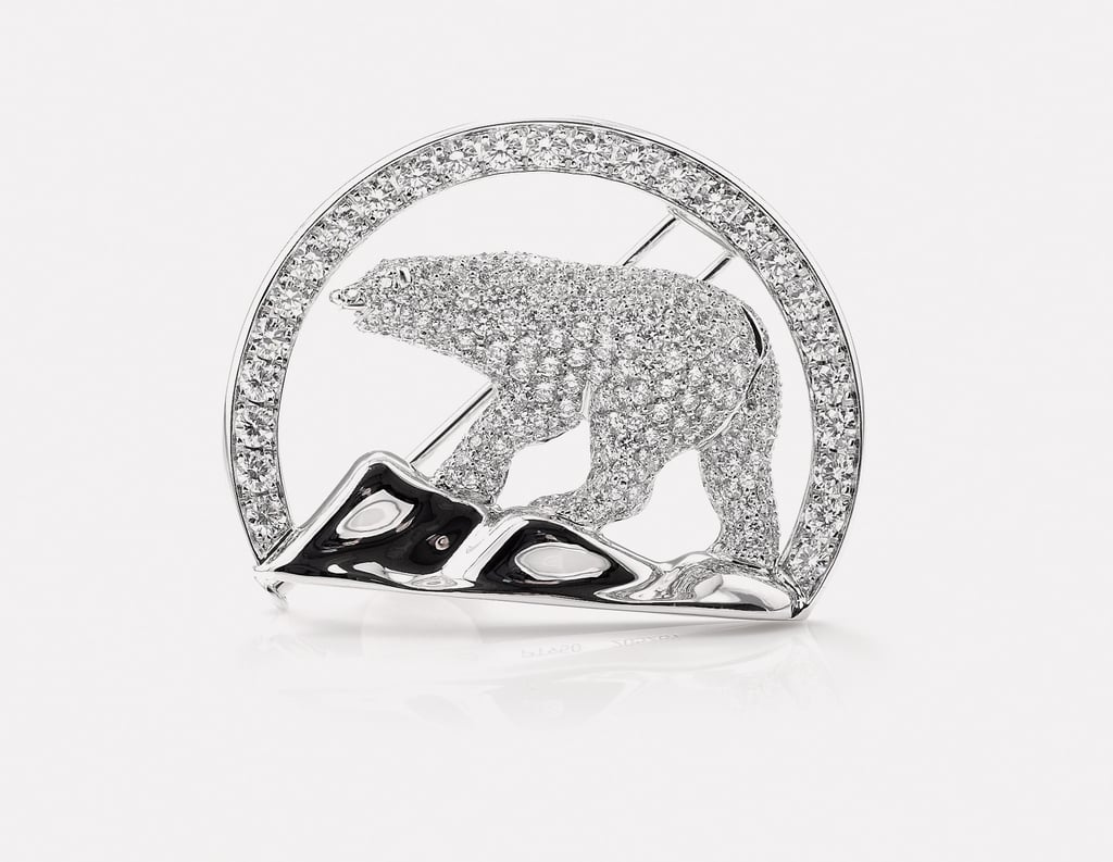 During her tour of Canada in 2011, Kate was gifted with a Polar Bear brooch in the subarctic town of Yellowknife that was made from locally mined diamonds.