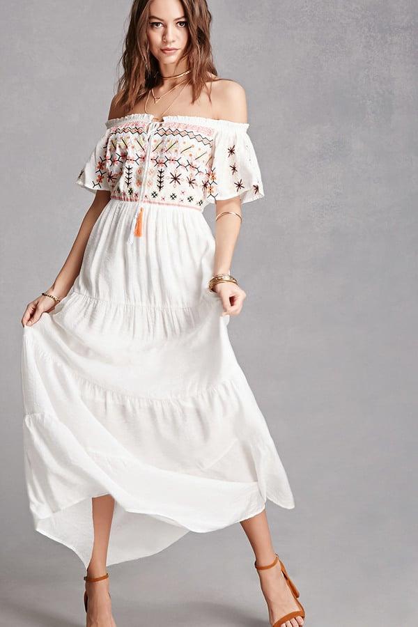Cheap white maxi dress online