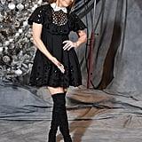 Jennifer Lopez's Black Minidress at Second Act Photo Call