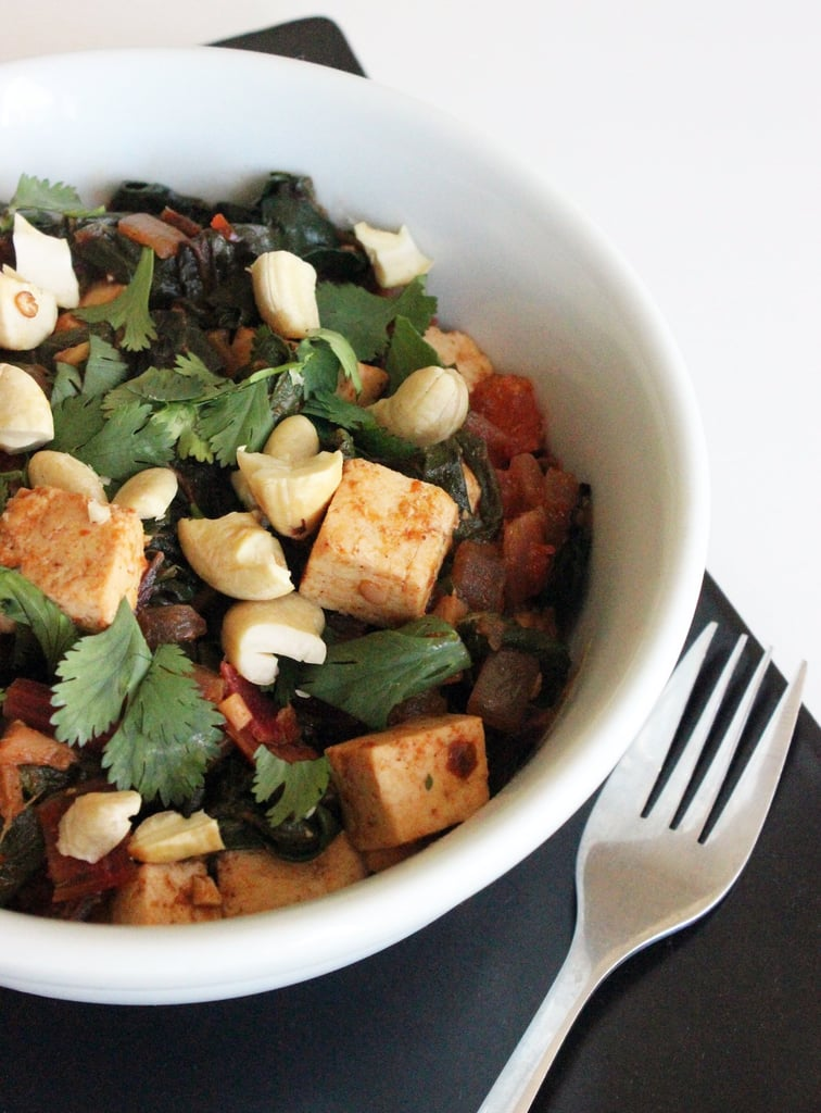 Indian-Spiced Chard With Tofu