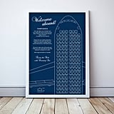Airplane Printable Wedding Seat Chart