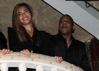 Beyonce and Jay-Z's Experience the Turn Evening at The Box in New York City on Friday evening (November 12).