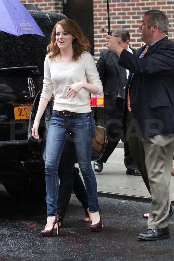Emma stepped into the Ed Sullivan theater.