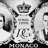 A stamp was issued for the wedding of Monaco's Prince Rainier and American actress Grace Kelly.