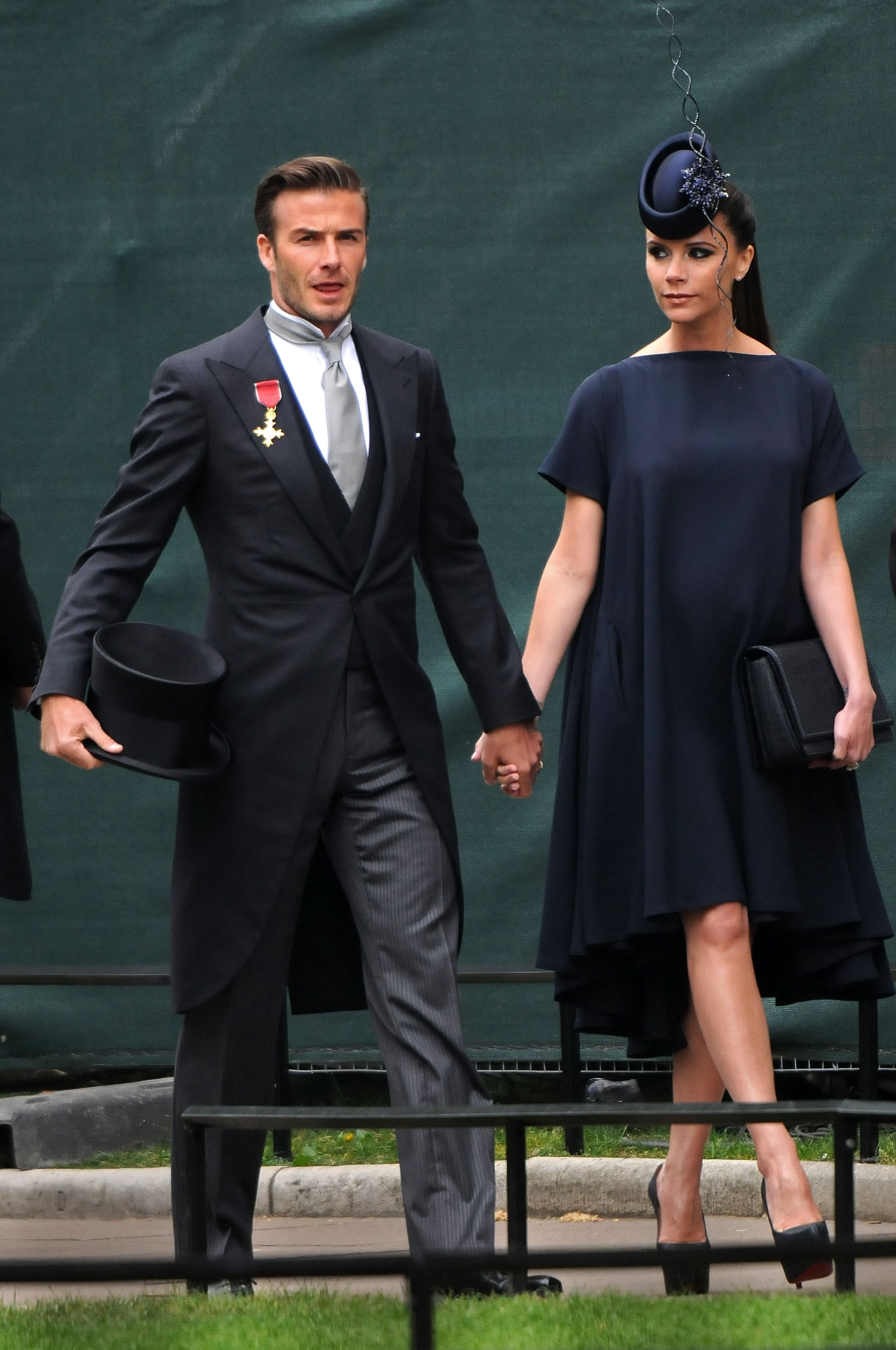 David and Victoria Beckham made an entrance at the April 2011 royal nuptials of Prince William and Kate Middleton in London.