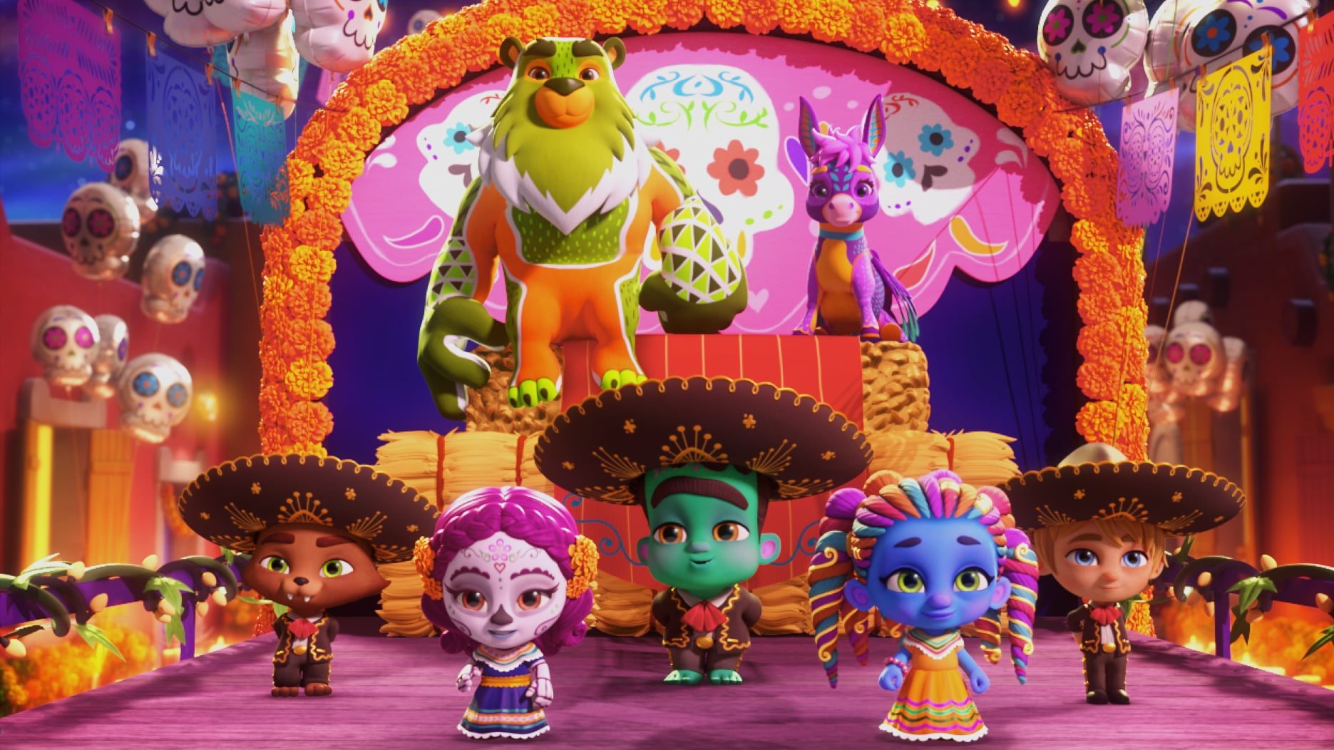 Super Monsters: Dia de los Monsters | Halloween Specials Galore and the Other New Shows For Your Kids on Netflix in 2020 | POPSUGAR Family Photo 5