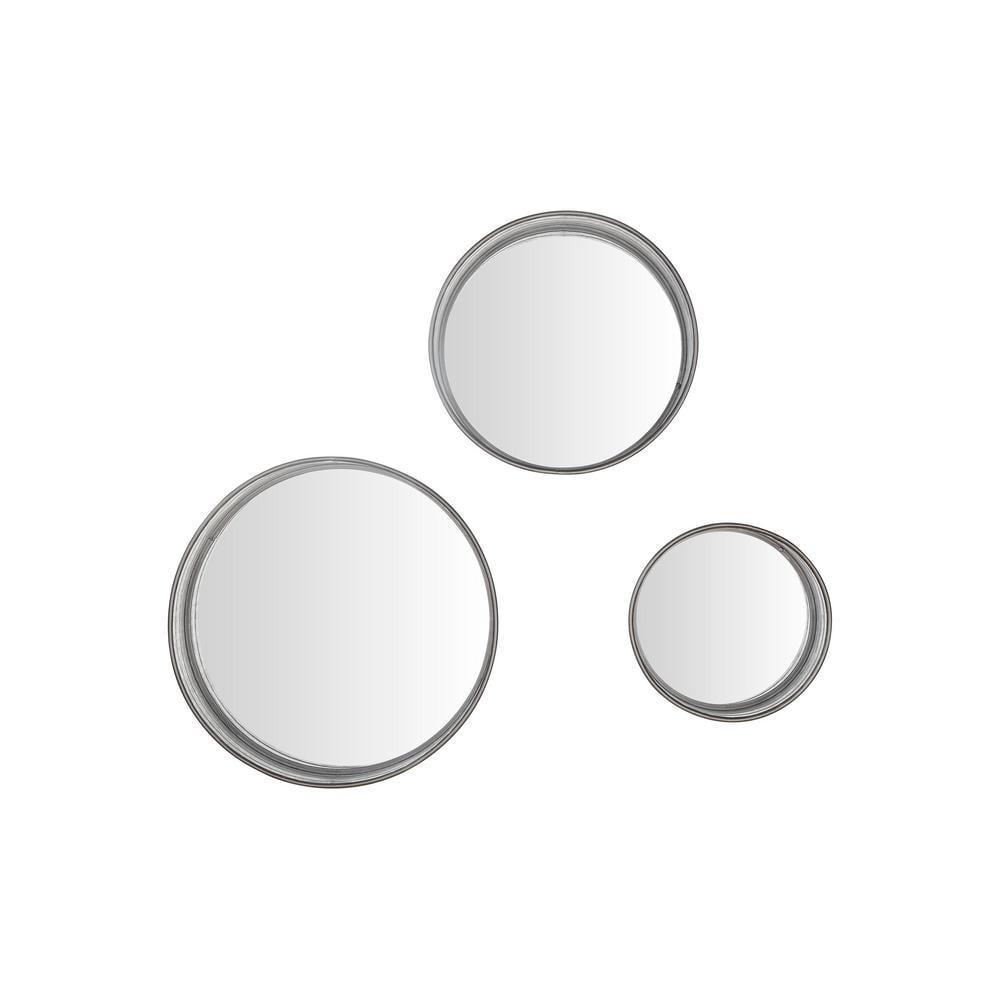StyleWell Round Framed Galvanized Metal Accent Mirror