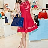 Miranda Kerr made a mall appearance at the Lotte department store in Seoul.