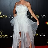 Gigi Edgley attended the AACTA Awards in Australia.