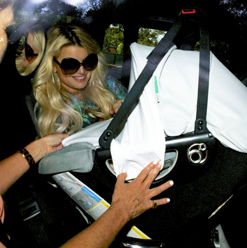 "Jessica Simpson arrived at the Beverly Hills Hotel yesterday on her 32nd birthday for a special meal at the Polo Lounge. She headed to the iconic spot to mark her milestone with her newborn daughter, Maxwell, and her fiancé, Eric Johnson. Also along for the fun was Jess's best friend, CaCee Cobb. Jessica spent her special day surrounded by loved ones. Meanwhile, we looked back at Jessica Simpson's personal and professional highlights as a tribute. There was lots of love in the air for Jess, since CaCee tweeted her happy birthday wishes to Jess with, ""I love you with all my heart."" Jessica Simpson's birthday dinner came after a fun Fourth of July. Jessica and Eric introduced their 2-month-old daughter to the patriotic day by taking her to see an LA fireworks show."