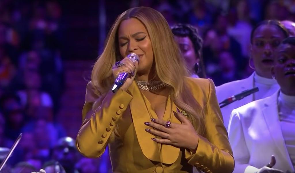 Beyoncé's Nail Art Tribute to Kobe and Gianna Bryant