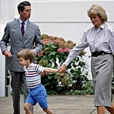 Diana Holding Hands With William, 1987