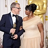 Christoph Waltz celebrated his win for best supporting actor with Octavia Spencer.
