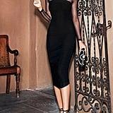 f4e0fd3668d ... Nude Strawberry Print Frill Wrap-Over Tea Dress · Black Dobby Mesh Midi  Dress ...