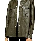 Topshop Leather Shirt Jacket