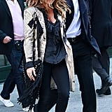 Fergie and Josh Duhamel looked more stylin' than ever on the streets of NYC. I was especially feeling Fergie's Etro coat and fringe bag.