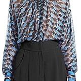 Fendi Broken Circle Print Silk Chiffon Blouse ($1,990)