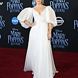 She looked like an actual princess at the premiere of Mary Poppins Returns.