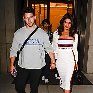 Priyanka Chopra White Dress With Nick Jonas at US Open