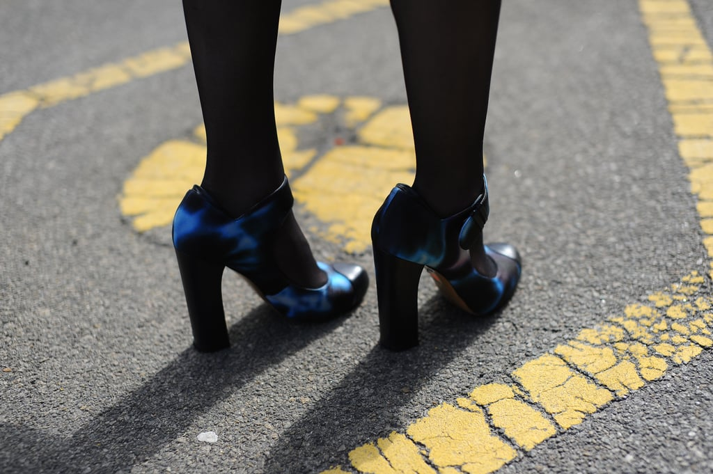 Nicholas Kirkwood heels in a futuristic blue print could liven up any look.