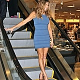 In mini blues, Fergie hangs at Nordstrom for the LA FNO festivities.