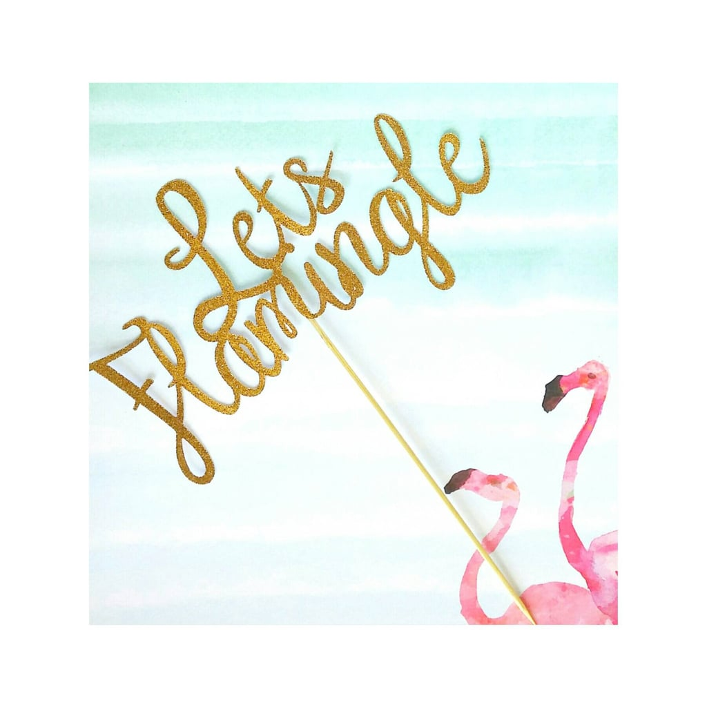 Flamingo Cake Topper ($6)