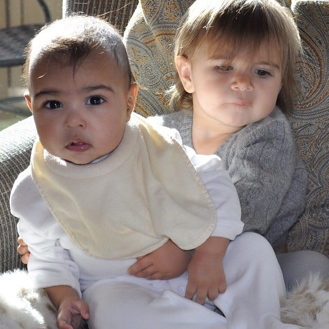 Kim Kardashian posted a shot of her daughter, North West, playing with her cousin Penelope Disick. Source: Instagram user kimkardashian