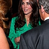 Kate Middleton at a reception held by the Queen in London.