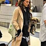 Pregnant Natalie Portman and Her Baby Bump Arrive at LAX Ahead of People's Choice Awards!