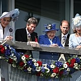 Queen Elizabeth was joined with Princess Michael of Kent, the monarch's racing manager John Warren, and Prince Edward, Earl of Wessex.