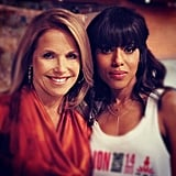 Kerry Washington dropped by the set of Katie Couric's talk show. Source: Twitter user katiecouric