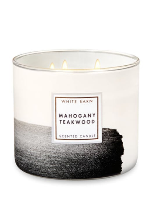 Mahogany Teakwood Three-Wick Candle