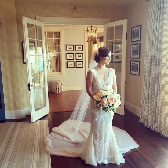 Sasha Cohen's Lace Wedding Dress