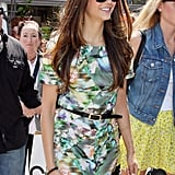 Nina Dobrev was all smiles at The Grove in Hollywood.